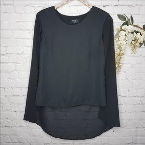 NASTY GAL black sleeveless cape style blouse